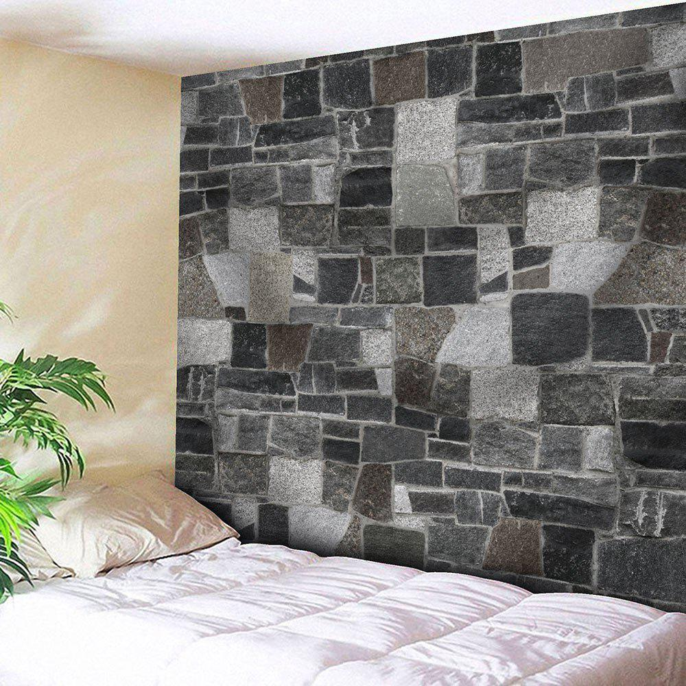 Brick Wall Print Wall Hanging Microfiber TapestryHOME<br><br>Size: W91 INCH * L71 INCH; Color: GRAY; Style: Vintage; Material: Nylon,Polyester; Feature: Removable,Washable; Shape/Pattern: Print; Weight: 0.3750kg; Package Contents: 1 x Tapestry;