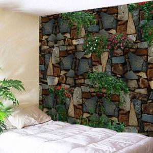 Floral Stone Wall Print Home Decor Tapestry