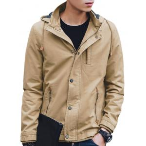 Zip Up Fall Winter Hooded Jacket