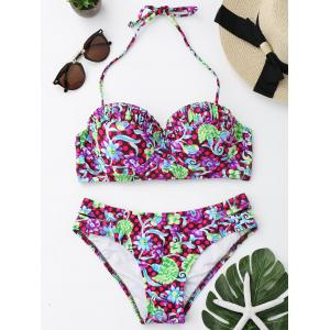 Floral Underwire Push Up Bikini Set