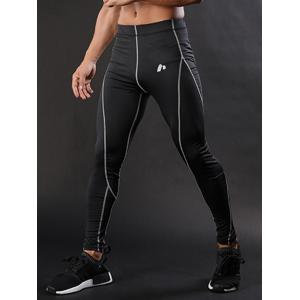 Elastic Waist Quick Dry Suture Stretchy Gym Pants - GRAY 2XL