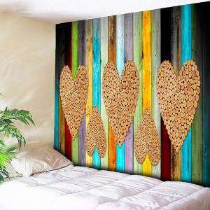 Wood Grain Heart Print Wall Hanging Tapestry