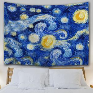 Oil Painting Galaxy Wall Decor Hanging Tapestry -