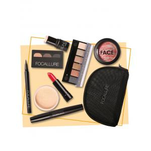 8PCS Beauty Makeup Kit With Bag - Colormix