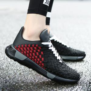 Plaid Pattern Weave Breathable Casual Shoes