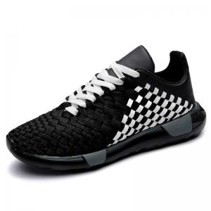 Plaid Pattern Weave Breathable Casual Shoes -