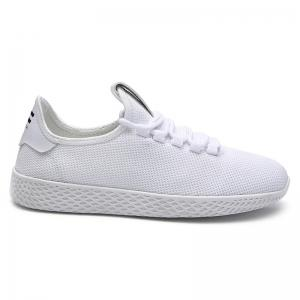 Mesh Lace Up Breathable Casual Shoes - White - 44