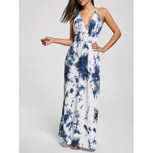 Halter Printed Maxi Backless Summer Dress