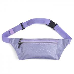 Light Weight Nylon Sport Wasit Bag - Purple