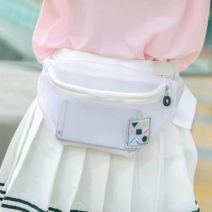 Semi Sheer Mesh Waist Bag - Blanc