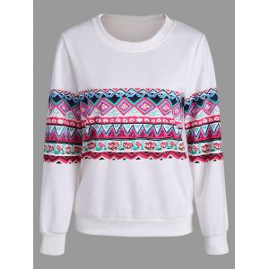 Casual Print Crew Neck Sweatshirt
