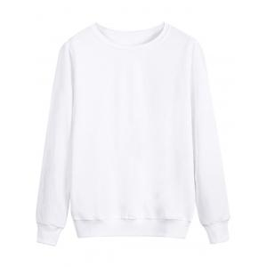 Long Sleeve Rib Panel Cotton Sweatshirt
