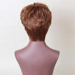 Siv Hair Short Incliné Bang Layered perruque cheveux bouclés humain -