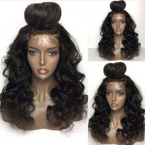 Long Free Part Shaggy Loose Body Wave Lace Front Human Hair Wig - Natural Black