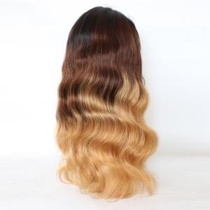 Long Colormix Free Part Loose Wave Indian Lace Front Human Hair Wig -
