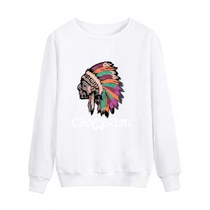 Long Sleeve Graphic Chief Print Sweatshirt
