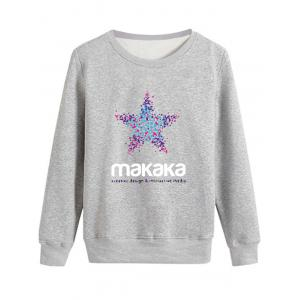 Long Sleeve Graphic Star Print Sweatshirt
