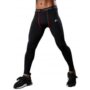 Graphic Elastic Waist Quick Dry Suture Stretchy Gym Pants