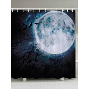 Halloween Moon Forest Print Fabric Waterproof Bathroom Shower Curtain