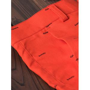 Allover Shorts décoratifs en os de poisson - Orange 34