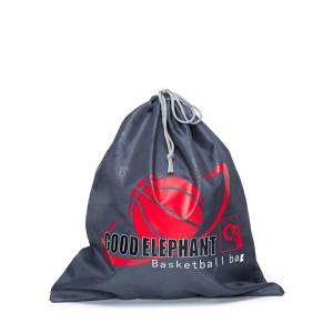Grapic Print Basketball Drawstring Bag - Deep Gray