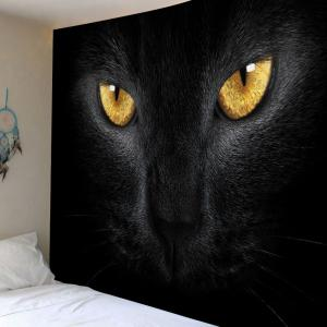 Tapis d'impression de chat Décoration d'art suspendue murale -