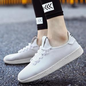 Mesh Lace Up Breathable Casual Shoes -