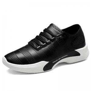 Breathable Faux Leather Tie Up Casual Shoes -