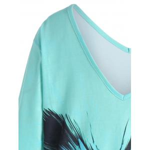 Plus Size Ombre Butterfly Print Tee -
