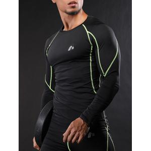 Raglan Sleeve Quick Dry Suture Stretchy Gym T-shirt -
