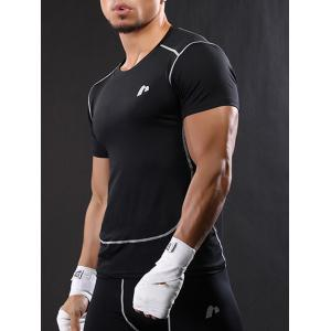Suture Short Sleeve Quick Dry Stretchy Gym T-shirt -