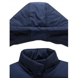 Snap Button Detachable Hooded Padded Waistcoat -