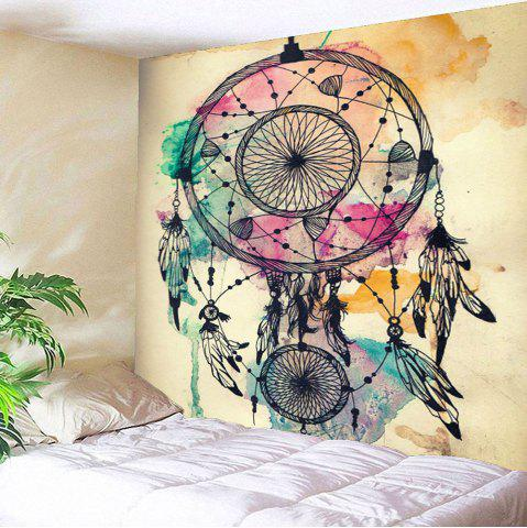Dreamcathcer Print Waterproof Wall Art Tapestry - Light Yellow - W59 Inch * L51 Inch