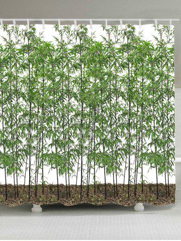 Waterproof Bamboo Trees Shower Curtain - Green - W71 Inch * L79 Inch