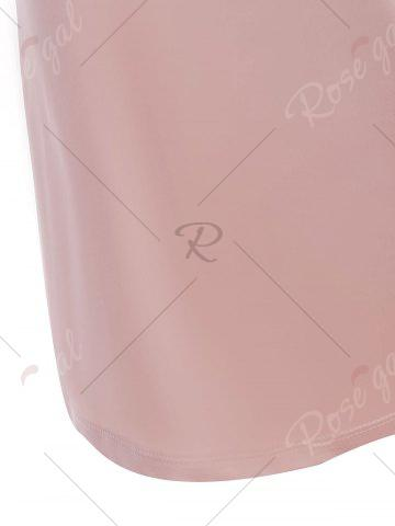 Outfits Sheer Embroidered Satin Slip Dress - ONE SIZE LIGHT PINK Mobile