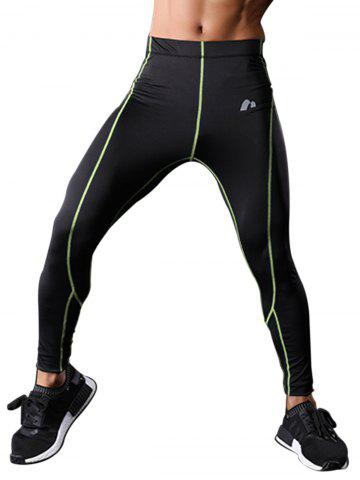 Store Elastic Waist Quick Dry Suture Stretchy Gym Pants - M GREEN Mobile