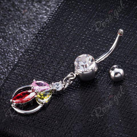 Discount Artificial Multicolor Crystal Belly Button Jewelry - COLORFUL  Mobile