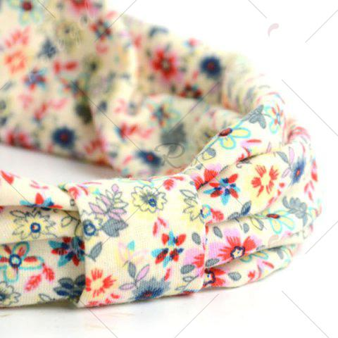 Best Vintage Tiny Flowers Pattern Snood - LIGHT YELLOW  Mobile
