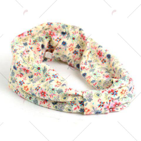 Unique Vintage Tiny Flowers Pattern Snood - LIGHT YELLOW  Mobile