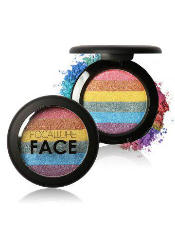 Cosmétiques Maquillage Rainbow Highlighter Powder 02#