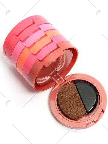 Trendy 5 Color Cosmetics Makeup Blusher With Brush - COLORMIX  Mobile