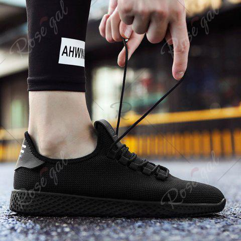 Outfits Mesh Lace Up Breathable Casual Shoes - 43 BLACK Mobile
