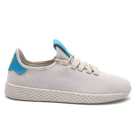 New Mesh Lace Up Breathable Casual Shoes - 43 OFF-WHITE Mobile