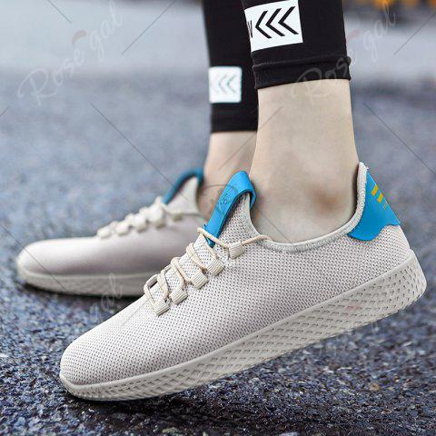 Outfit Mesh Lace Up Breathable Casual Shoes - 43 OFF-WHITE Mobile