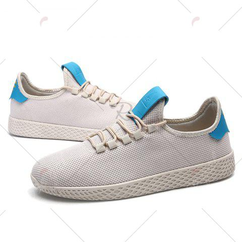 Latest Mesh Lace Up Breathable Casual Shoes - 43 OFF-WHITE Mobile