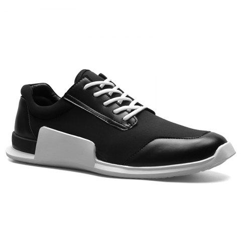 Affordable Tie Up Stretch Fabric Breathable Casual Shoes - 40 BLACK Mobile
