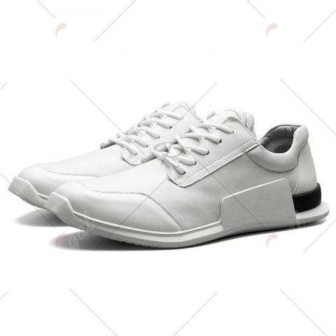 Best Tie Up Stretch Fabric Breathable Casual Shoes - 43 WHITE Mobile