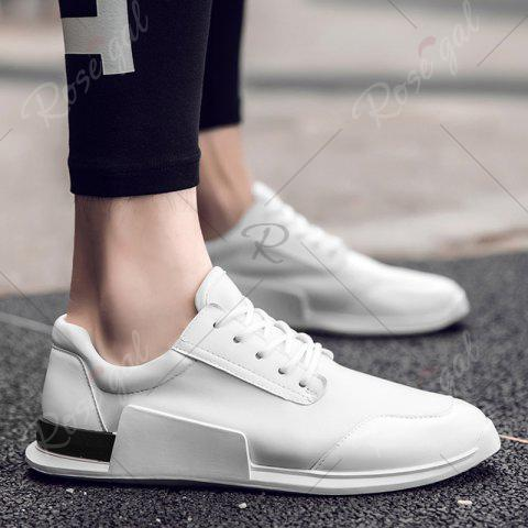 Sale Tie Up Stretch Fabric Breathable Casual Shoes - 43 WHITE Mobile