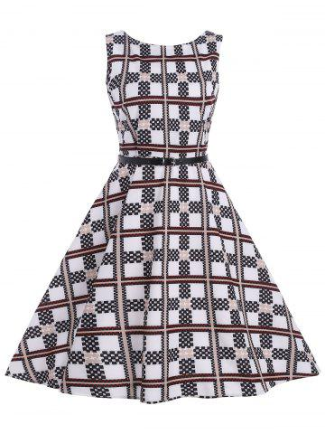 Checked Vintage Dress - Checked - Xl