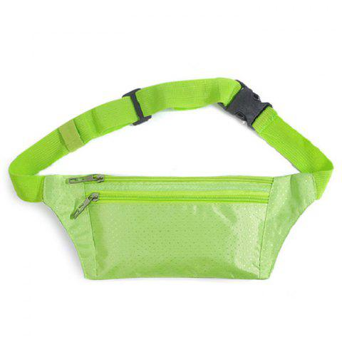 Store Light Weight Nylon Sport Wasit Bag - GREEN  Mobile